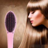 Wholesale Magic Hair Straightener degree Dying Tools Electric Straight comb tangle hair brush Iron Brush LCD Display
