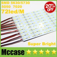 Wholesale Super Bright LED Bar Light SMD Hard Rigid DC12V cm led M Cool Warm Pure white Showcase Strip Lights Lamps CE ROHS