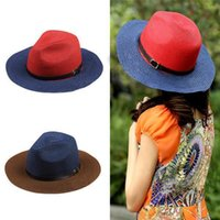 Cheap Fashion Women Girls Cute Straw Cap Topper Summer Beach Sun Hat 2 Colors Support Mixed Colors Drop Shipping