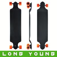 Wholesale Professional longboard INCH Canadian ply maple deck Drop Down Complete speed long board unique shape mm Wheels