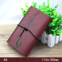 Wholesale Office stationery stationery leaves label A6 notebook Notepad retro diary a book the record of the meeting