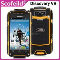 Wholesale Discovery V8 MTK6572 Dual Core quot G Waterproof Android Cell Phone MB RAM G ROM MP Android