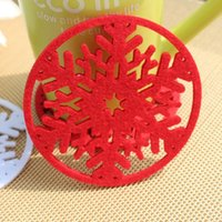 Wholesale 10pcs Christmas Decoration Coffee Cup Coaster Tea Mat pads Party Decoration