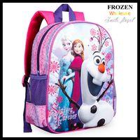 Wholesale 2015 New Cartoon Frozen School Bags Children Christmas Gifts Elsa Anna Princess Printing Students Backpacks DHL Shipping Dropship