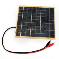 Wholesale 5W V Solar Cell Panel For Car Battery Charger Power M Wire Battery Clips