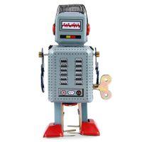 Wholesale Hot Funny Attractive Dark Green Clockwork Spring Walking Robot Retro Mechanical Children Kids Toy Gift
