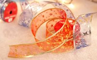 christmas ribbon - 2015 New arrive Christmas ribbons cmX270cm hot stamping ribbon Christmas Decorations yzs168