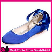 Wholesale Women s Prom Evening Party Wedding Bridal Shoes Cocktail Vintage Comfy Flats for Bridesmaid Casual Formal Teen Girls Royal Blue Comfortable