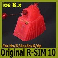 Wholesale Original R SIM RSIM R SIM Unlock Card r sim for iphone S C S plus iOS6 X X CDMA GSM WCDMA Support Sprint AT T T mobile