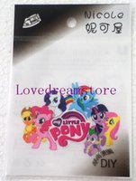 Wholesale 100 Sheets My Little Pony Fashion iron on patches patch patches for Transfers gift DIY Fashion Decorative Giftclothing