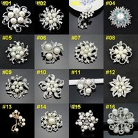 anniversary invitation - 1pcs Retail Top Quality Brooch Retro Bouquet Wedding Invitation Vintage Brooch Pieces Flower Pearls Brooches BRW03