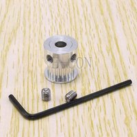 Wholesale 50pcs GT2 teeth Timing Pulley Alumium Bore mm for width mm belt and the best quality