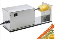 Wholesale electric automatic potato cutter_Tornado potato slicer spiral cutter