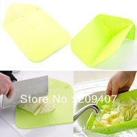 Wholesale candy color multifunctional folding water plastic cutting board cutting board kitchen supplies freeshipping