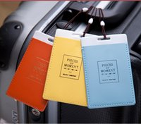 Wholesale Luggage Tags Travel Paper Suitcase Tag Carrying case Tag Packet Label Wrap Easily recognizable Bag Parts With lanyard