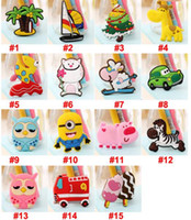 Wholesale 2016 Cute Flexible Fridge Magnets Animals Tree Cars Zebra Sheep Owl Home Decoration Animal Gel Refrigerator Magnets FreeDHL E454L