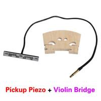 Wholesale Double Piezo Upright Cello Pickup Bass Cello and Baroque Style Violin Pickup Bridge Bass Pickup BHU2