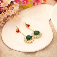 bijoux - 2015 sunflower summer dress steampunk feminino green blue brand fashion big dangle earrings for women bijoux innovative items J1080