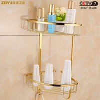 Wholesale All copper and gold bathroom toilet bathroom shelf bathroom shelf pod tripod Specials