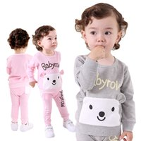 baby stretch suit - Limited Rushed Vest Roupas Infantil Meninas Bear Baby Clothing Cotton Stretch Suit Autumn Set Brand Clothes