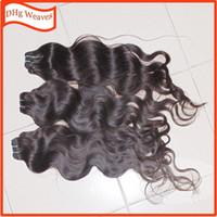 al por mayor cabello humano diosa-11pcs / lot más barato del grado 7A pelo humano indio de la onda del cuerpo suave Paquetes de pelo diosa de la armadura
