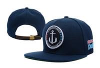 wave skateboard - hiphop skateboard Wave flat brim Sapback hats deep blue men women baseball caps hat cap cheap online