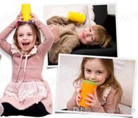 Wholesale New Wow Cup for Kids Colors Innovative no Spill Free Drinking Cup HHA48