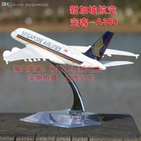 asia singapore - Southeast Asia Singapore Airlines aircraft simulation model airplane model alloy metal vehicles toy airplanes Airbus A380
