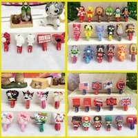 audio harness - Free Ship NEW Designs D Cartoon Cable Tie Earphone Data Audio Cable Fastener Organizer Smart Muted Line Fixer Kids Gift
