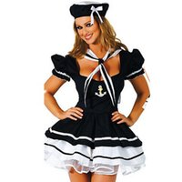 adult tutu costumes - Black Dress Pleated Dress Tutu Sexy Gril Costume Dress Sexy Role Playing Costume for Girl Disguisement Adult Sexy Dress Girl