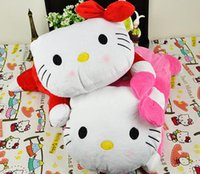 Wholesale Kawaii Hello Kitty Car Room Soft Plush Removable Tissue Case Size CM