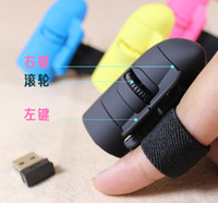 Wholesale 2 GHz Wireless Finger Mouse Lazy Mouse DPI Cute Computer Laptop Mouse Pro Game Mice free ship