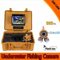 Wholesale Top Quality quot TFT LCD Monitor Fishing Camera HD TV Lines Underwater Camera White LEDs Fish Finder M Cable