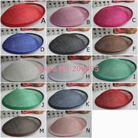 Wholesale Hot Selling cm Sinamay Anomalistic Base Millinery Form Hat