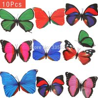 Wholesale Colorful Butterfly Garden Ornament Flowerpot Decor Butterfly w Stick K5BO