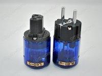Cheap Oyaide P037E Rhodium plated EU Power plug C037 IEC power connector audio power plug free shipping