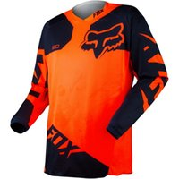 Wholesale F0X Race Jersey newest off road speed long sleeved T shirt dark blue sport utility surrender RED WHITE