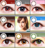 Wholesale Lemon Grass Series Enlarge Eyes Cosmetic Colorful Contact Lenses Eye Colored