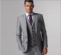 Wholesale Business men formal suit gray made in china custom made size Men s Clothing