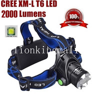 Wholesale SKU343 Alone Fire HP79 Head lamp Cree XM L T6 LED LM led Zoom Headlamp for x18650