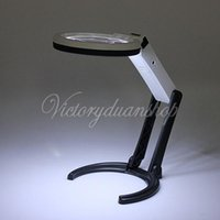 Wholesale New Magnifying Desk Table Handheld Lamp With X X Magnifier With LED Lighting and EU Power Charger order lt no track