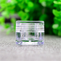 Wholesale Lily g Empty Clear Acrylic Jar Cosmetic Cream Compact Sample Bottle Makeup Craft Refillable Container
