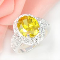 Cheap 2015 Hot Sale Wedding Rings 2pcs lot Wholesale Holiday Jewelry Gift Party Newest Citrine Gemstone 925 Sterling Silver Ring Usa Size 7 8 9