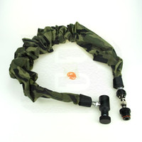 airsoft gun camo - New Paintball Airsoft Air Gun PCP Coil Remote Hose M With Slide Check QD And Camo Cover