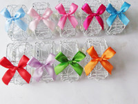 Wholesale fashion car Heart Laser Cut Candy Gift Boxes With Ribbon Wedding Party Favor Creative Favor Bags HS9205