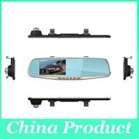 4.3inch 1080p doble lente DVR coche de dos cámaras Full HD 120 visión de ángulo separados cámara trasera Gsensor dvr espejo hd 010226