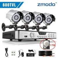 Cheap Zmodo 600TVL 4ch cctv dvr with hdd home security Outdoor and Indoor day night High Resolution video surveillance camera system