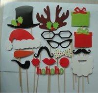 photo glass - Handheld wedding guest glasses modelling Photo props moustache Photo props Christmas