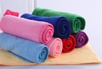 Wholesale 10 Mixed Color Microfiber Car Cleaning Towel Home Washing Polishing Cloth HG