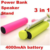 battery powered speakers for iphone - 3 in Mini Speaker mAh Power Bank Battery Stereo Speakers Cellphone Stand Holder External Battery Charger for iphone plus note